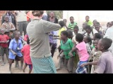 African Children First Time to Hear Fiddle Music