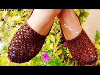Aprender a tejerer sandalia tejidas en crochet