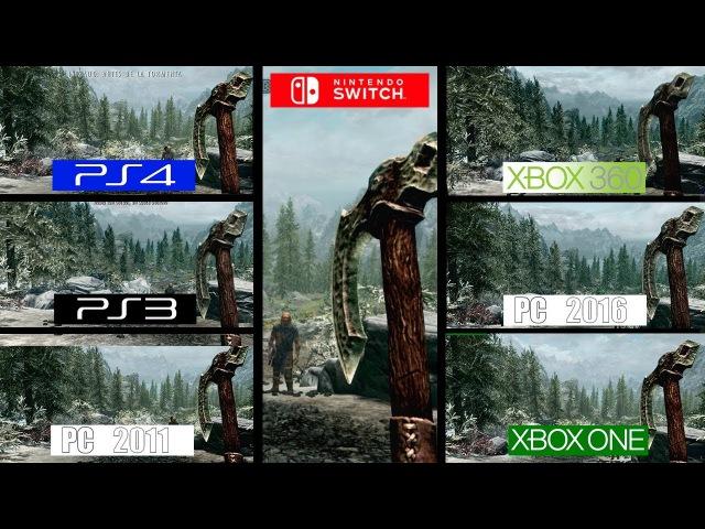 SKYRIM | Switch vs PS4 vs PC vs ONE vs PS3 vs 360 | All Versions Comparison