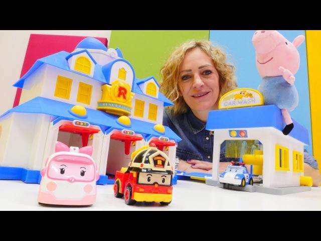 Schorsch spielt mit Robocar Poli Toys Kindervideo auf Deutsch