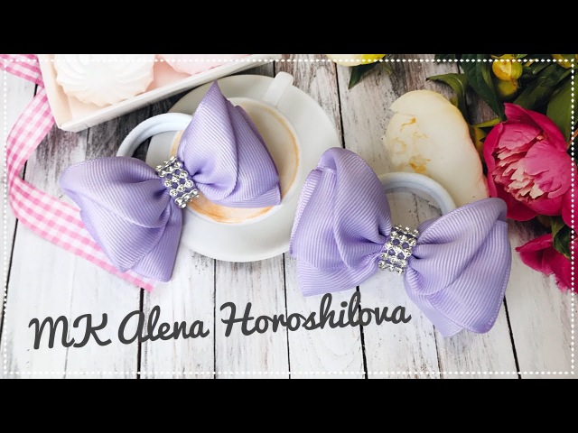 Бантик из лент МК Канзаши Алена Хорошилова laço de fitas tutorial ribbon bows