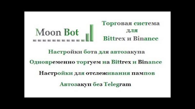 Moon торгуем ботом Автодетектом на Амазоне без Telegram
