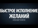 Быстрое исполнение желаний Александр Палиенко