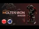 Molten-glowing iron shader in redshift [CINEMA 4D TUTORIAL]