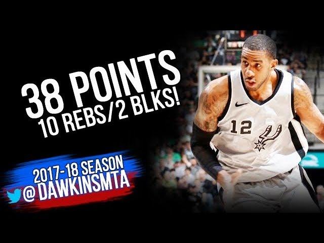 LaMarcus Aldridge Full Highlights 2018.3.17 San Antonio Spurs vs TWolves - 38-10-2! | FreeDawkins