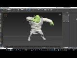 Shrek Rig Dancing Animation Test