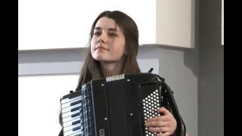 Д.Скарлатти Соната C-dur Мария Орёл (Maria Oriol) аккордеон
