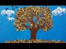 Аппликация из осенних листьев. Поделки для детей.
