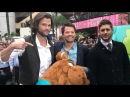 Jensen Ackles, Misha Collins and Jared Padalecki at promotion of Scooby doo crossover in California