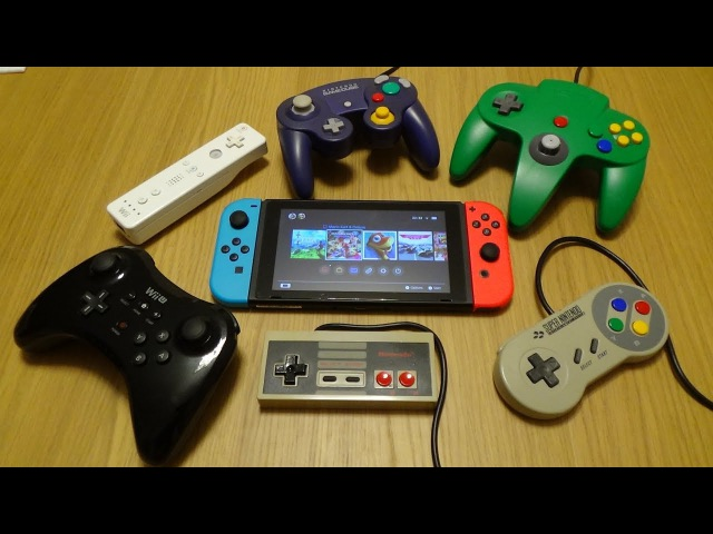 NES, SNES, N64, GC, Wii, WiiU...All Nintendo Controllers working on the Switch
