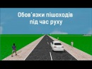 Обов'язки пішоходів під час руху