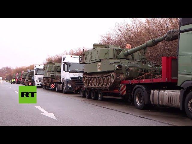 Policía alemana detiene a un convoy con obuses estadounidenses