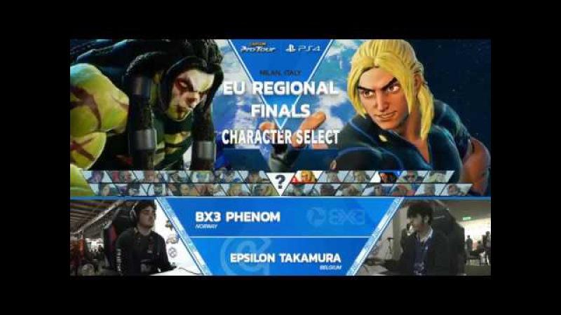 SFV BX3 Phenom vs Epsilon Takamura MGW 2017 Top 8 CPT 2017