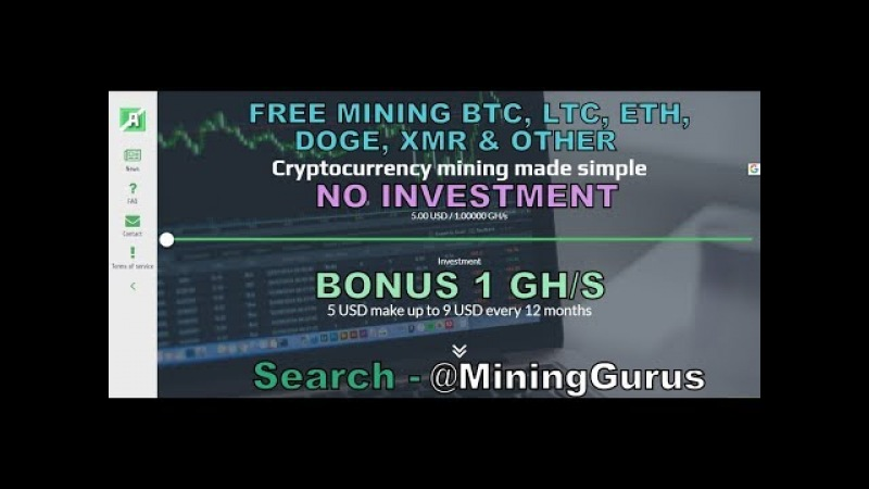 Free 1 GH/S Cloud Mining For Bitcoin,Litecoin,Dogecoin,Ethereum Other | No Invest | MiningGurus