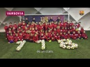 Happy birthday Barça Юные футболисты поздравляют Барселону