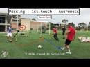 Soccer drills for Passing   AWARENESS   1st touch   Quick Feet Timing of MOVEMENT   Joner 1on1