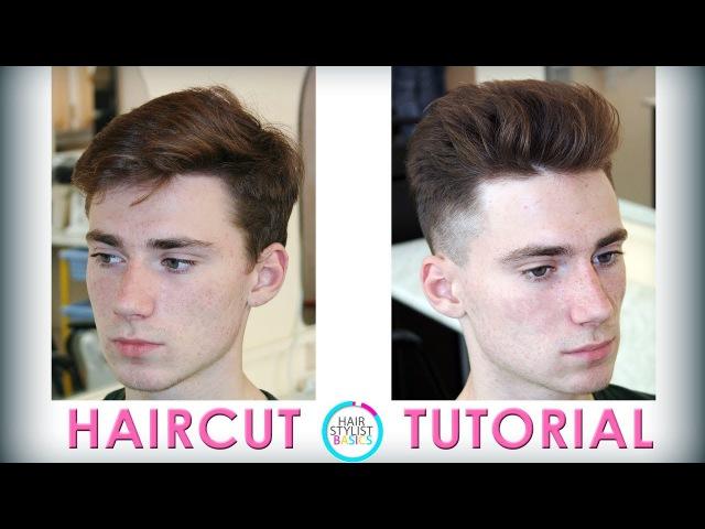 Men's short haircut for thick hair - tutorial 37 мужская короткая стрижка для густых волос