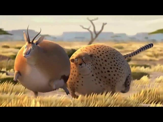 Забавный мультфильм про надутых зверей саванны Мультфильмы для всей семьи