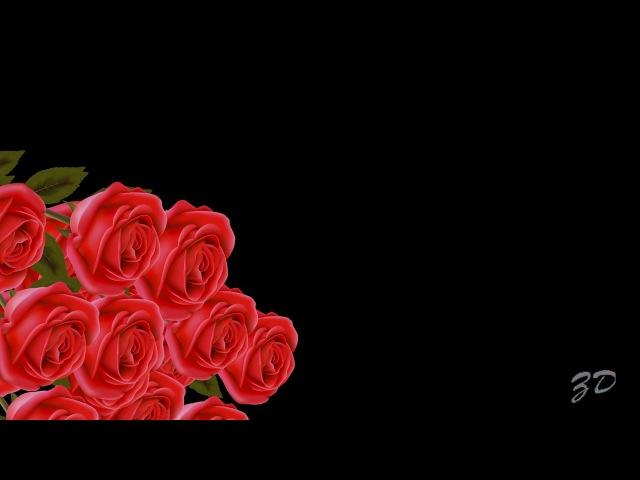 Красивый бесплатный футаж для видеомонтажа - Падающие розы 1