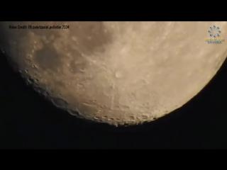 Фотограф с помощью 83-кратного зума смог рассмотреть малейшие детали на луне (6 sec)