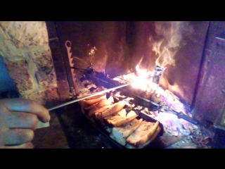 Grive au feu de bois