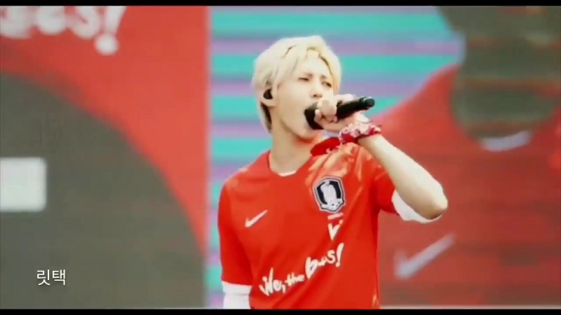 180521 Leo and Sejong (Gugudan) - We the Reds @ Russia World Cup National Team Ceremony