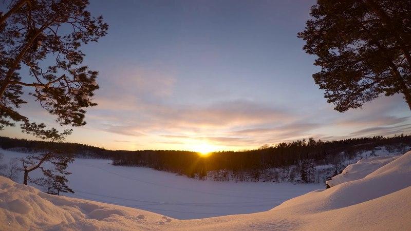 Закат на Ястребином Озере