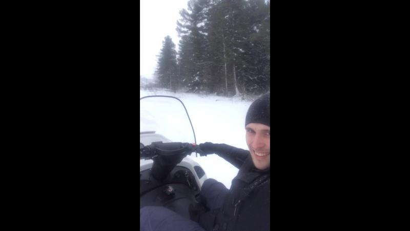На снегоходе по Тайге