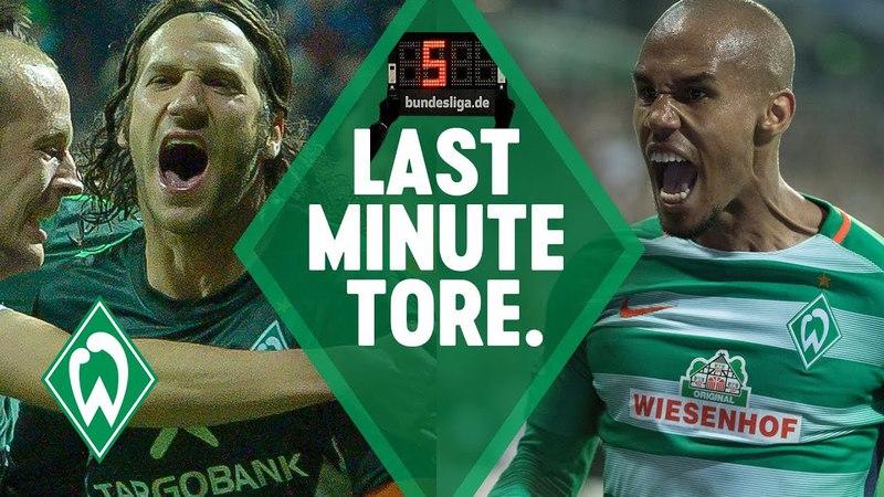 TOP 5 Last-Minute-Tore SV Werder Bremen: Torsten Frings Zlatko Junuzovic