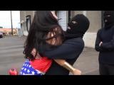 HEROINE GIRL SQUEEZED IN BEARHUG