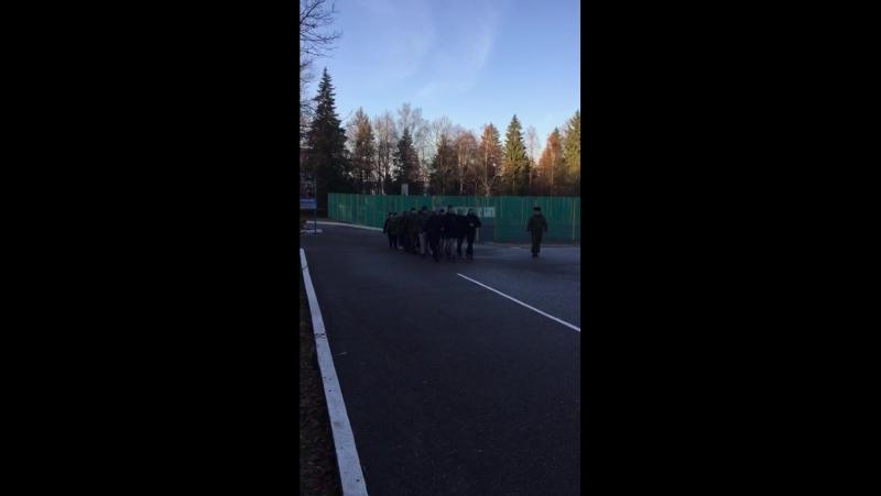 Ученики 10-х классов ГБОУ Школа №2065 на военных сборах в лагере «Патриот».