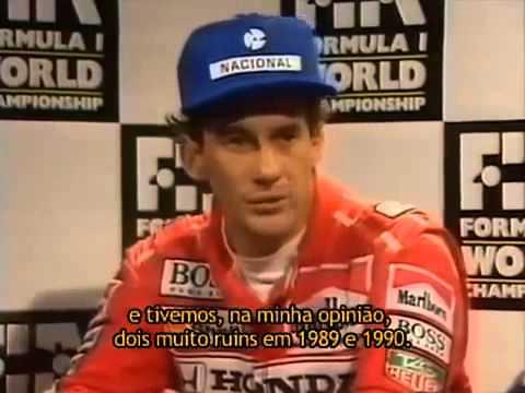 Ayrton Senna chama Alain Prost de covarde em entrevista coletiva
