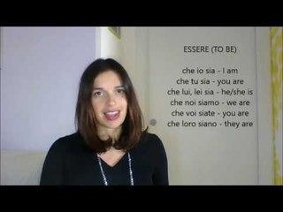 LEARN ITALIAN IRREGULAR VERBS PRESENT SUBJUNCTIVE con sottotitoli