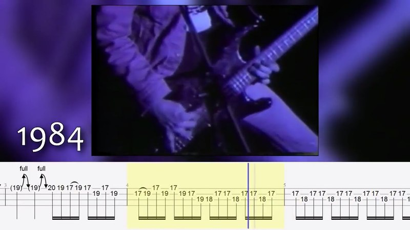 Craziest Cliff Burton's live bass solos w/ TABS