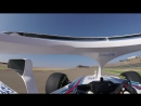 Кубица пилотирует FW41 на трассе в Арагоне