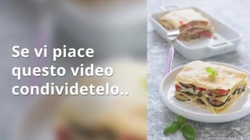 Lasagne al tonni zucchine e pomodorini