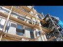 Утепление фасадов частного дома пенополистиролом ППС-16Ф 150мм, зимний клей Ceresit CT85