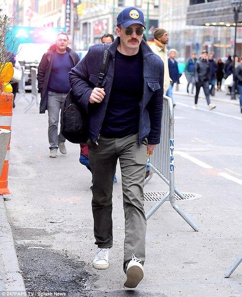 Крис Эванс в Нью-Йорке