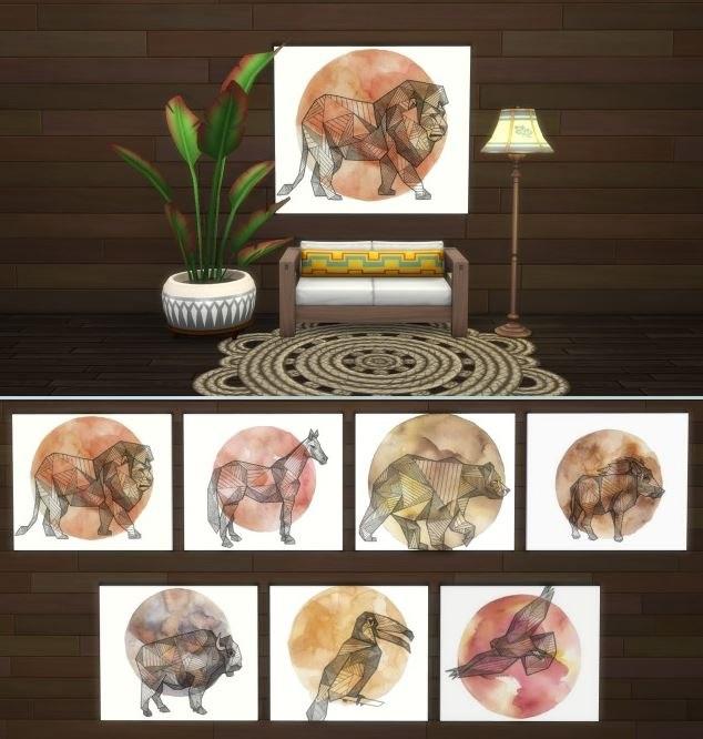 Geometric Animal Paintings by Sofel00
