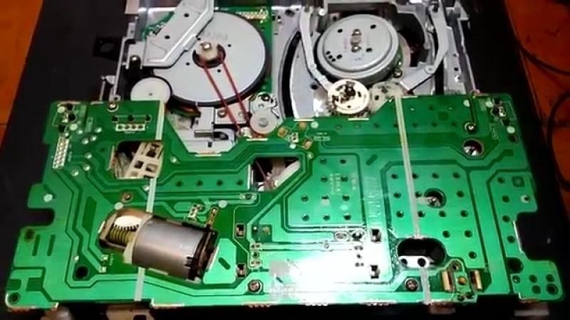 Ремонт видеомагнитофона Panasonic NV-SD20. Часть 1. VHS-juclip-scscscrp