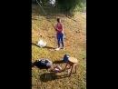 Миниатюра женщина и рыбалка