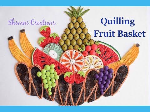 Quilling Fruit basket / How to make Paper Fruit Basket