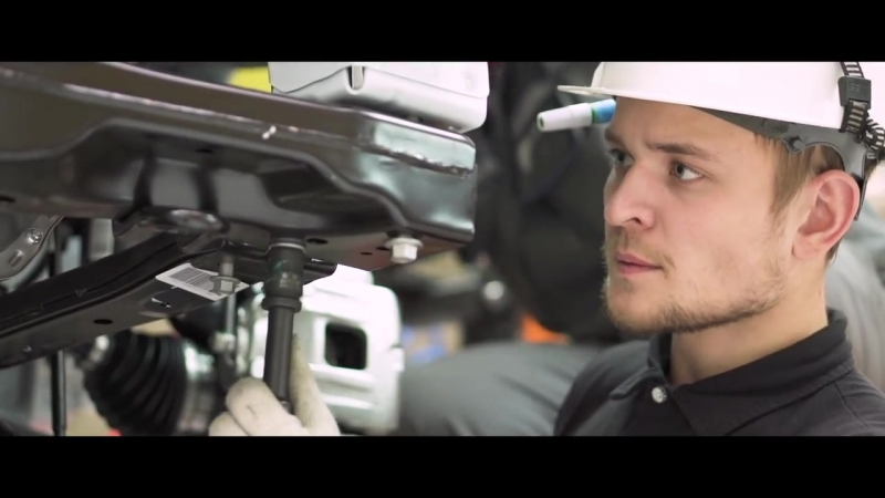 Сборка автомобилей на заводе Белджи