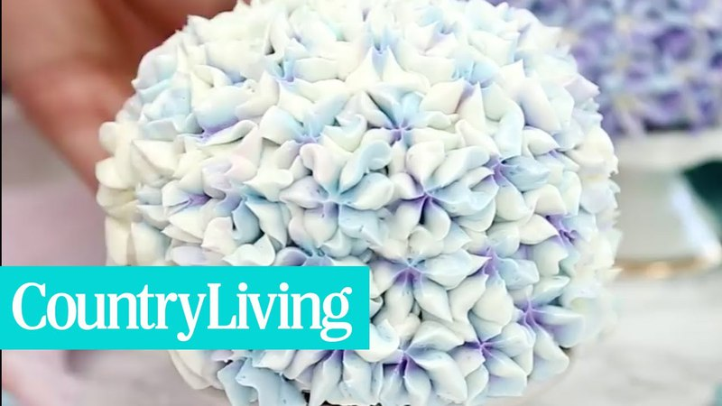 You Need To See The Trick To Creating This Stunning Hydrangea Cake! | Country Living