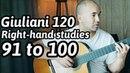 120 Guitar Arpeggios | 91 to 100 | Mauro Giuliani | Classical Guitar Lesson | NBN Guitar