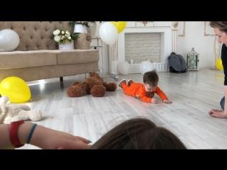 Детский фотопроект «Воздушные радости» Лев 7 месяцев