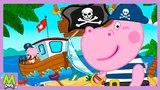 Гиппо Пеппа и Пираты.Любимые Мультики с Гиппо Пепой.Все на Абордаж за Сокровищами.Сборник Игр