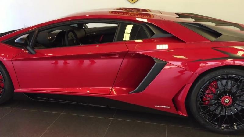Lamborghini Aventador SuperVeloce Coupe Rosso Bia