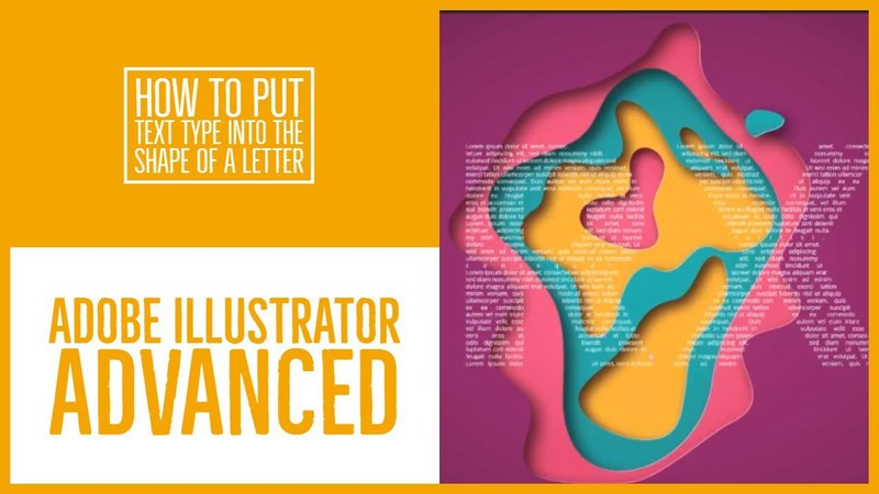 How to put text type into the shape of a letter - Illustrator Advanced Training [33/53]