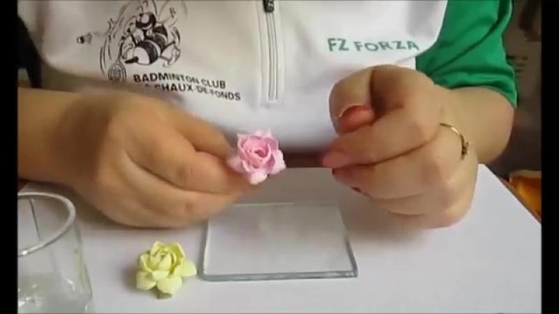 Урок Гардения цветы из полимерной глины